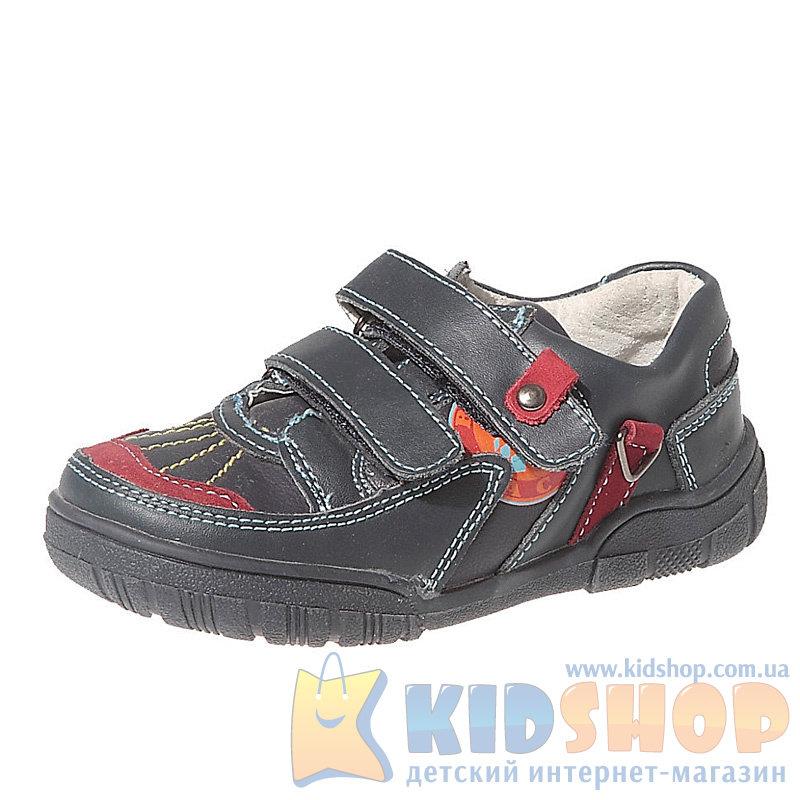f4f2ba65b5633a Кожаные синие детские туфли для мальчиков дошкольного возраста B&G ...