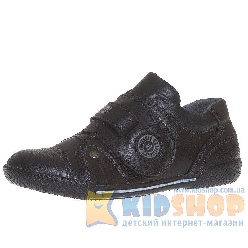 447c16723648e7 Спортивні шкіряні туфлі для підлітків Constanta на липучках чорного ...