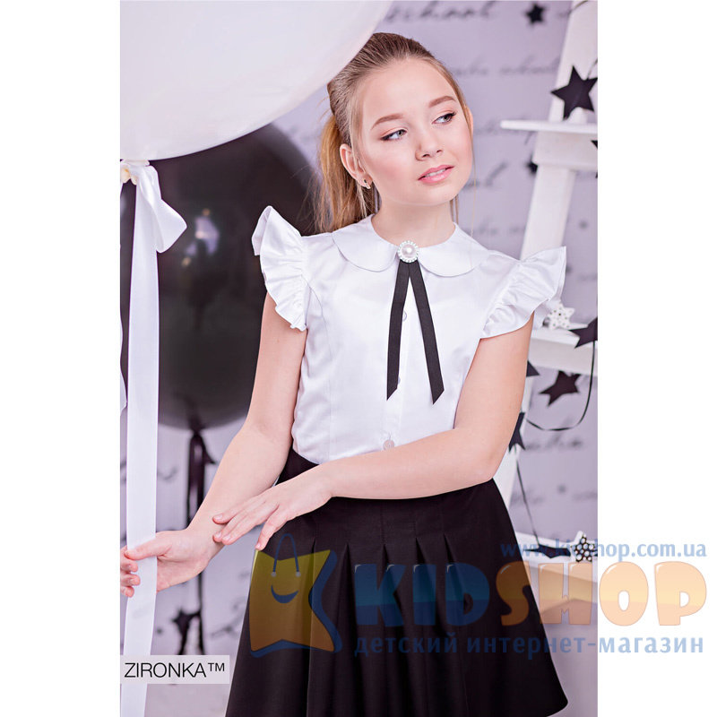 Шкільна блузка Зіронька 3593-1 білого кольору купити в Україні в ... a8983a77b9ea3