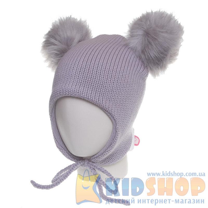 детская шапка в меховым помпоном Tutu 3 001196 купить в украине на