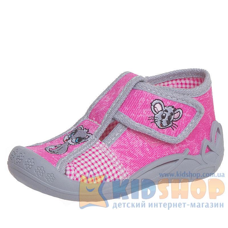 Детские текстильные тапочки для девочки 3F Zabka 1F5 1 с ... 7bca823e3c952