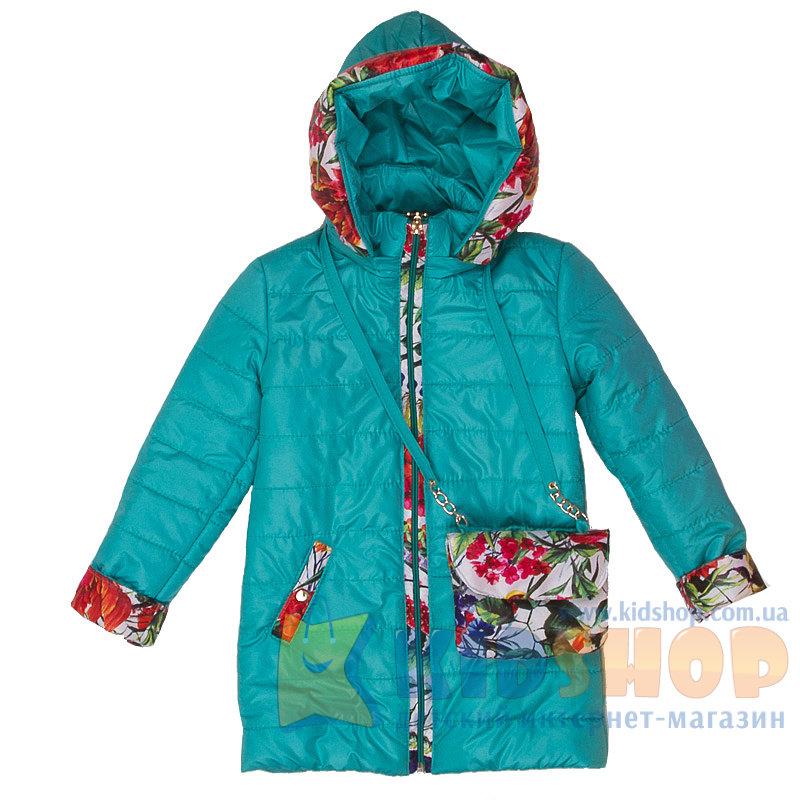 96901c74a899fe Демісезонна куртка на дівчинку Manifik Квіти бірюза купити в Києві в ...