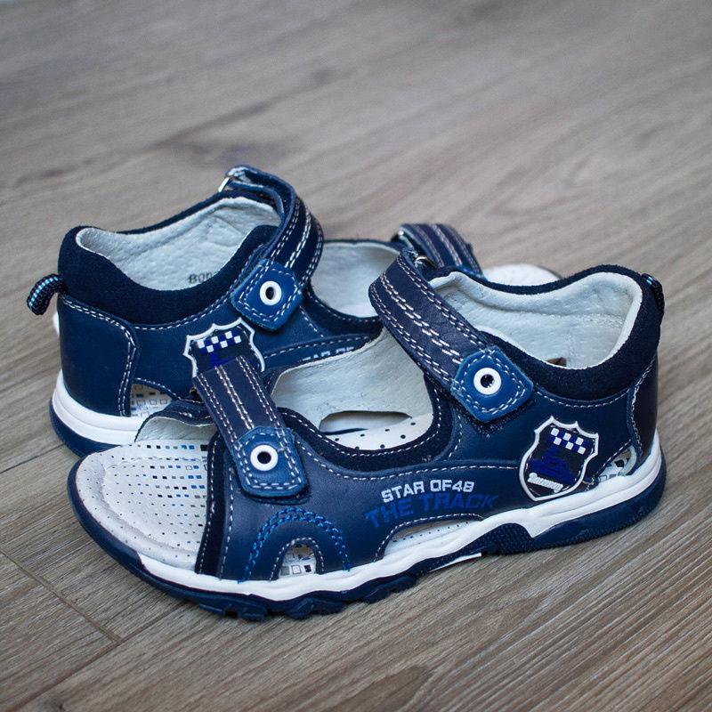 9d5fc9b80f94d0 Босоніжки для хлопчиків Bi&Ki 0210A колір синій | інтернет-магазин ...